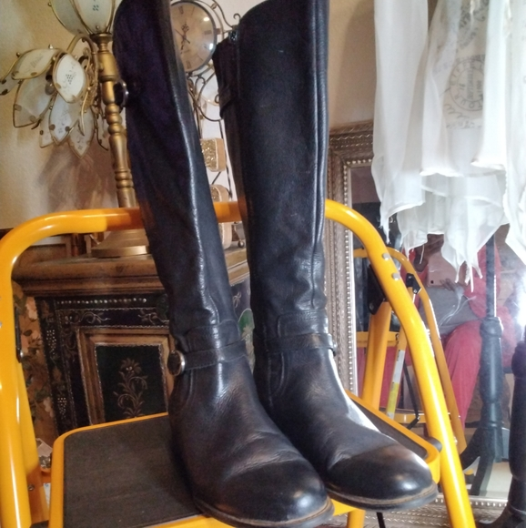 Black Naturalizer Leather Boots 10w Knee High
